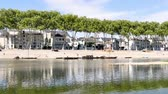 rivet : Orleans is a prefecture and commune in north-central France. View of the Loire river. Horizontal panorama of the Loire quays.