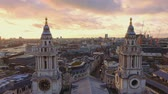 vista : The towers of St Pauls cathedral in the evening