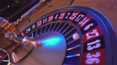 gamble : Roulette Wheel in a casino - perspective view Stock Footage