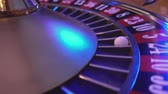 gamble : Roulette table in a casino Stock Footage