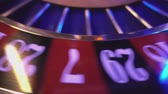 gamble : Roulette Wheel in a casino - extreme close up