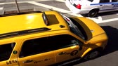 big apple : Yellow Cab driving in Manhattan New York
