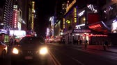 vezes : Times Square New York by night Stock Footage