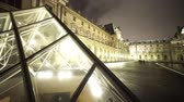 tower : Wide angle shot of the Louvre pyramids - PARIS, FRANCE