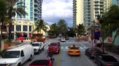 visite : Art Deco District in Miami Beach Stockvideo