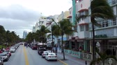 visite : Ocean Drive Miami Beach Stockvideo
