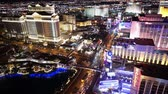 kasino : The hotels at the Las Vegas strip by night - LAS VEGAS, NEVADA  USA April 20, 2015