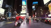 vezes : New York Times Square by night - MANHATTAN, NEW YORK  USA April 25, 2015 Stock Footage