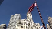 estados unidos : Wrigley Building Chicago - CHICAGO, ILLINOIS  USA Stock Footage