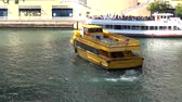 estados unidos : Chicago Water taxi on Chicago River - CHICAGO, ILLINOIS  USA Stock Footage
