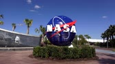 tentoonstelling : NASA logo op het Kennedy Space Center in Cape Canaveral Cape Canaveral, Florida  USA 18 oktober 2015