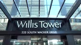 estados unidos : Willis Tower former Sears Tower - CHICAGO, ILLINOIS  USA Stock Footage
