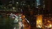 vezes : City traffic in Manhattan - timelapse at night Stock Footage