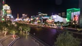 pôquer : Amazing Las Vegas Boulevard at night timelapse shot
