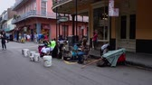 francês : Street musicians in New Orleans