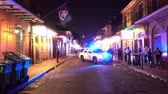 kult : NOPD New Orleans Police blocking street in the French Quarter at night