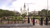 francês : St. Louis cathredral and Jackson Square in New Orleans