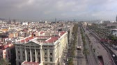 katalánsko : Amazing city of Barcelona - aerial view on a sunny day Dostupné videozáznamy