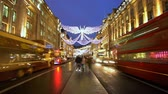 английский : Regent Street London at Christmas Time - amazing time lapse shot