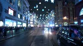 английский : Beautiful Oxford street in London at Christmas Time - time lapse shot