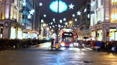 Лондон : Wonderful Christmas decoration in London - time lapse shot Стоковые видеозаписи