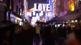 английский : Wonderful Carnaby Street in London at Christmas time - time lapse shot