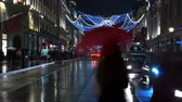 английский : Wonderful Christmas decoration in London - time lapse shot Стоковые видеозаписи