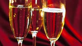 champanhe : Close up shot of sparkling wine or Champagne Stock Footage