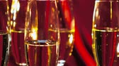 caro : Close up shot of sparkling wine or Champagne Stock Footage