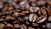 пекарня : Coffee Beans - amazing macro shot Стоковые видеозаписи