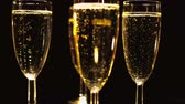 champanhe : Golden Champagne - very exclusive Stock Footage