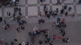 Československo : Aerial view over Old Town Square in Prague