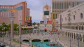 fremont : The Venetian Hotel and Casino in Las Vegas - LAS VEGAS  NEVADA - APRIL 24, 2017 Stock Footage