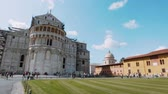 architektonický : Pisa Cathedral and Leaning Tower at Duomo Square - PISA TUSCANY ITALY - SEPTEMBER 13, 2017