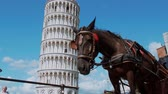 toscana : The famous tower of Pisa - important landmark in Tuscany - PISA TUSCANY ITALY - SEPTEMBER 13, 2017