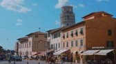 toscana : Beautiful historic district of Pisa with the Leaning Tower - PISA TUSCANY ITALY - SEPTEMBER 13, 2017
