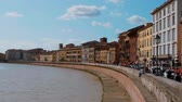 architektonický : River Arno in the city of Pisa on a wonderful day - PISA TUSCANY ITALY - SEPTEMBER 13, 2017