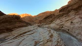 awe inspiring : Beautiful Mosaic Canyon az Death Valley National Park in California Stock Footage