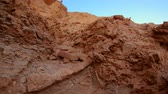 awe inspiring : Awesome landscape at the Golden Canyon - Death Valley National Park Stock Footage