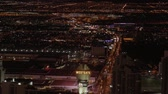 casino chips : Aerial view over the city of Las Vegas by night - USA 2017