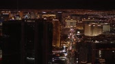 pôquer : Aerial view over the city of Las Vegas by night - USA 2017