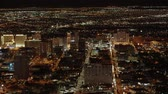 wizytówka : Aerial view over the city of Las Vegas by night - USA 2017
