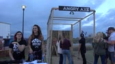 oklahoma city : Angry Axe Game at Tulsa Octoberfest - USA 2017 Stock Footage