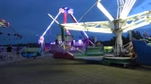 oklahoma city : Carousels at Octoberfest fair in Tulsa - USA 2017