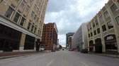 oklahoma city : Street view in the downtown area of Tulsa - wide angle view - USA 2017 Stock Footage