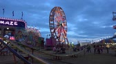 oklahoma city : Fun ride attractions at Octoberfest fair in Tusla - USA 2017