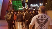 casino chips : Las Vegas tourists walking over the strip - USA 2017
