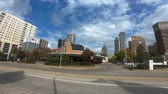 beira da estrada : Beuatiful wide angle view over Tulsa Downtown with MTTA - USA 2017 Stock Footage
