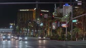 pôquer : Famous Las Vegas Boulevard at night also called the Strip - USA 2017