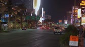 poker : Famous Las Vegas Boulevard at night also called the Strip - USA 2017